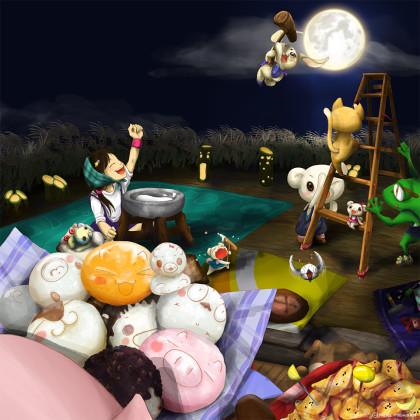 お月さま、今宵も一緒に遊びましょ。