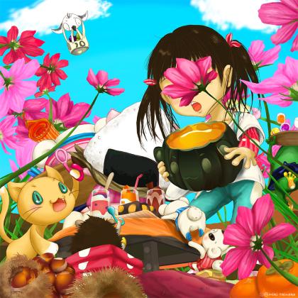 秋の桜でお花見しましょ。